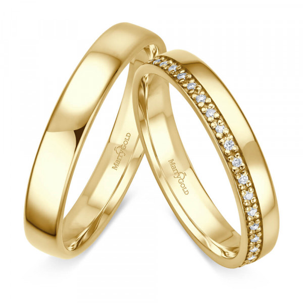 585 Gold Gelbgold Klassische Hochzeitsringe Trauringe