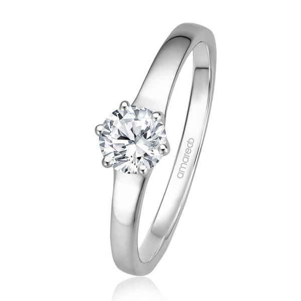 Verlobungsring Weissgold 585 0 50 Ct W If Kaufen Trauringschmiede