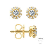 Ohrstecker Darling Gelbgold 0,25 ct. w/si