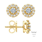 Ohrstecker Darling Gelbgold 0,50 ct. w/si