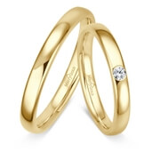 Trauring MarryGold Gelbgold 0,05 ct. w/si