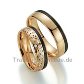 Trauring  Roségold Carbon 1,56 ct. w/si