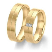 Trauring  Gelbgold 0,12 ct. w/si