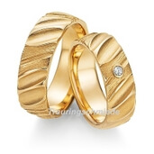 Trauring  Gelbgold 0,01 ct. w/si