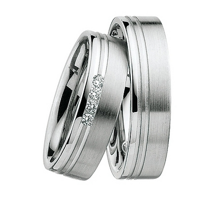Trauring TRS selected Platin 950 4x Reihe (0,12 ct. w/si)