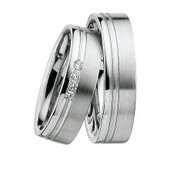 Trauring  Platin 0,12 ct. w/si