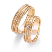 Trauring  Roségold 0,04 ct. w/si