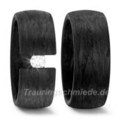 Trauring  Carbon 0,15 ct. w/si