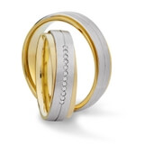 Trauring MarryGold Platin Gelbgold 0,06 ct. w/si