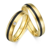 Trauring MarryGold Gelbgold Carbon 0,02 ct. tw/si