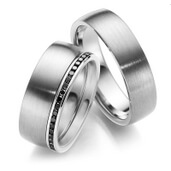 Trauring  Palladium 0,23 ct.