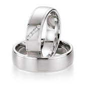Trauring  Palladium 0,05 ct. w/si