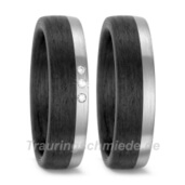 Trauring  Carbon Palladium 0,03 ct. w/si