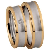 Trauring  Gelbgold Edelstahl 0,01 ct. w/si