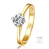 Verlobungsring Caring Gelbgold 0,70 ct. tw/if