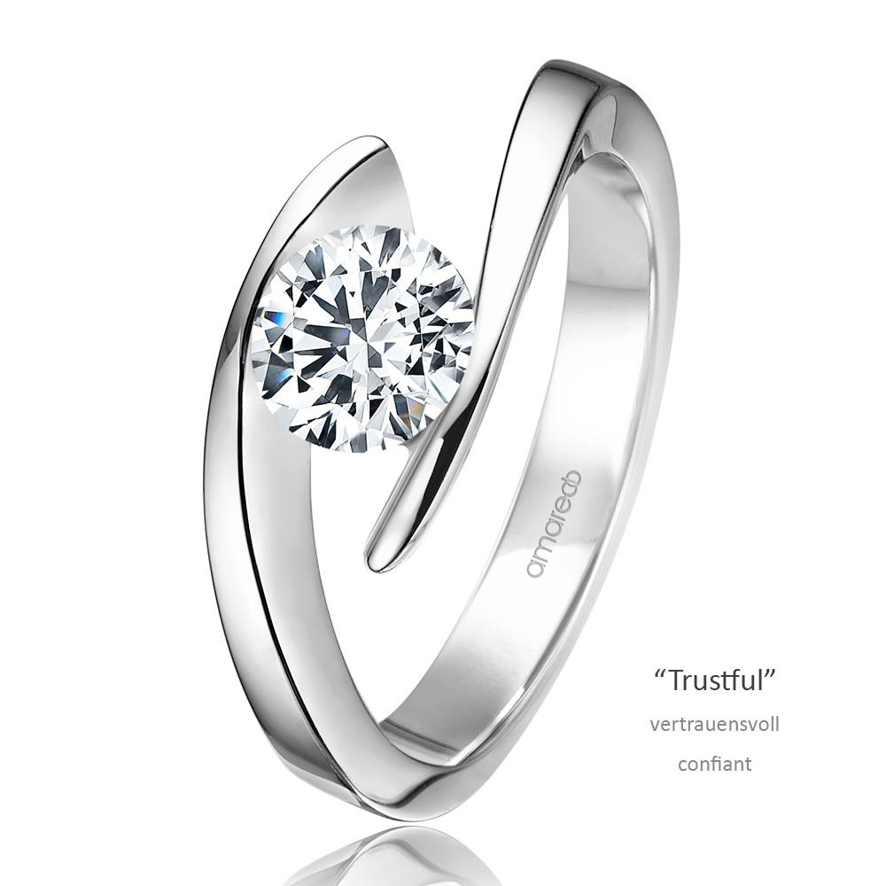 Weißgold ring verlobung  Verlobungsring Trustful Weißgold 585 1x Solitär (1,00 ct. w/si ...